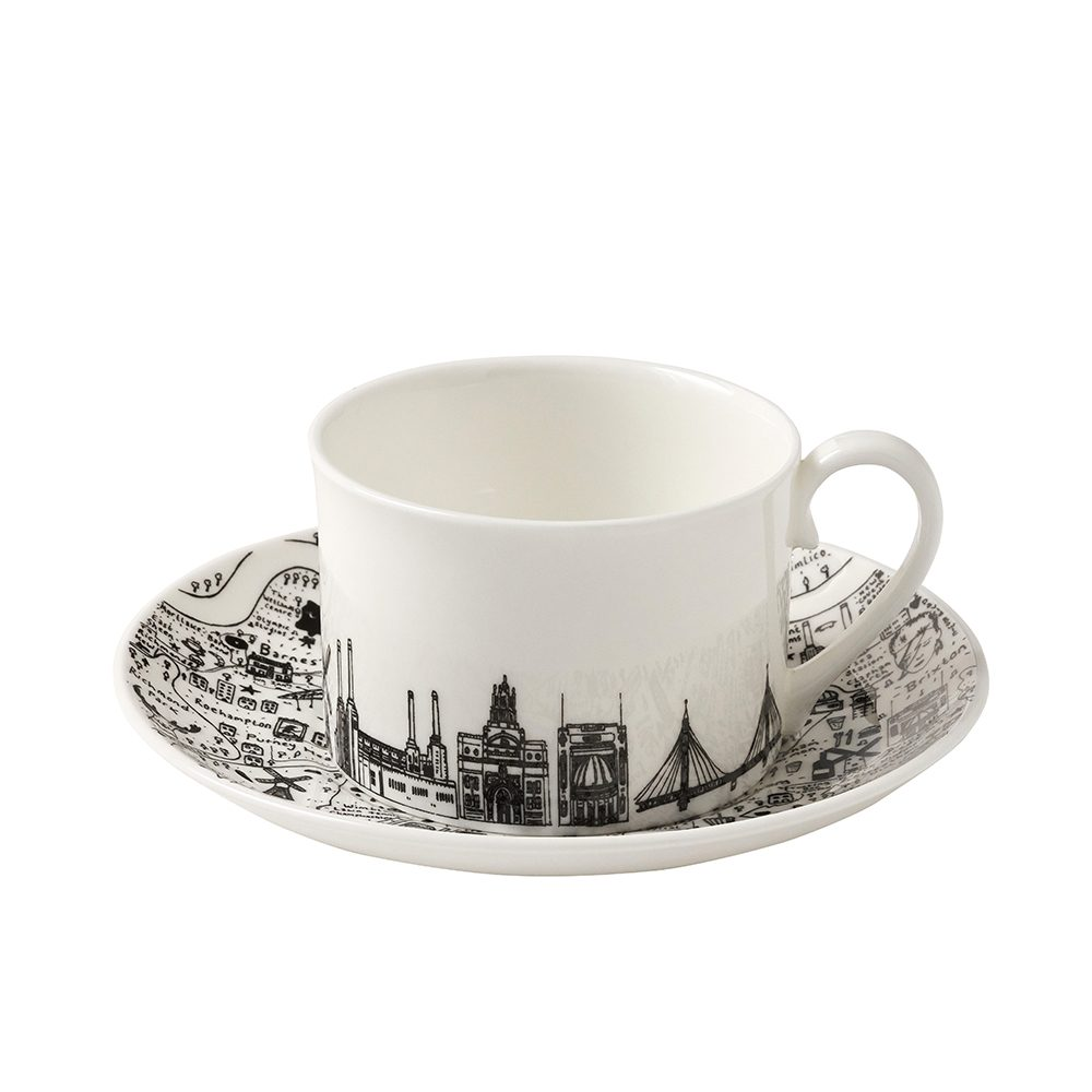 Designer homeware - South West London cup and saucer set