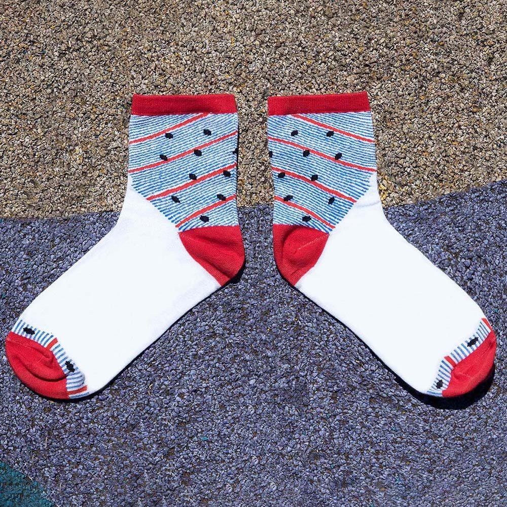 Designer socks falling dots design