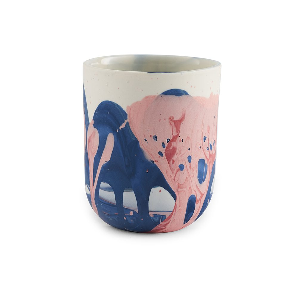 Designer homeware Fountouki pot pink and blue