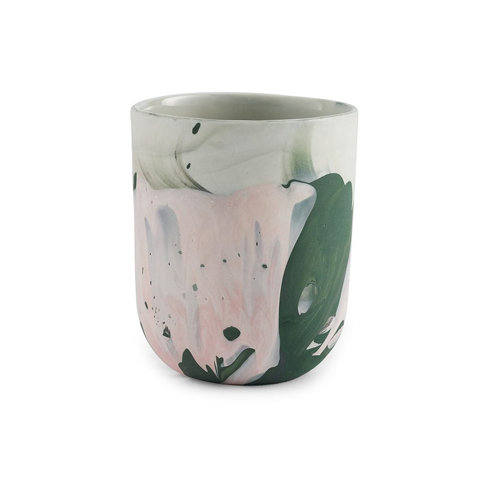 Designer homeware Fountouki pot pink and green