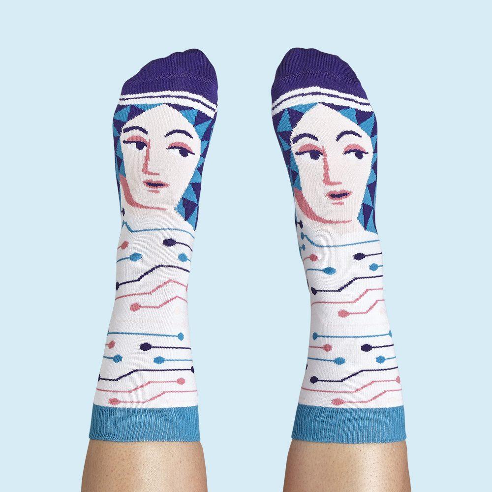 Fashion Socks Mathematicians Ada Lovelace