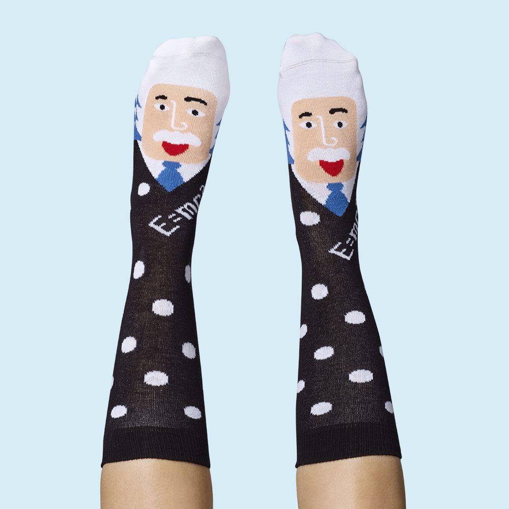 Fashion Socks Mathematicians Albert Einstein
