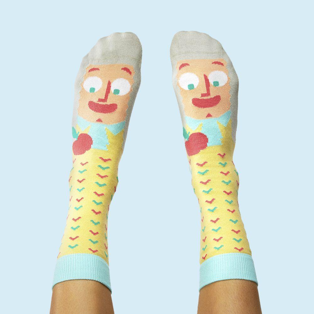 Fashion Socks Mathematicians Isaac Newton
