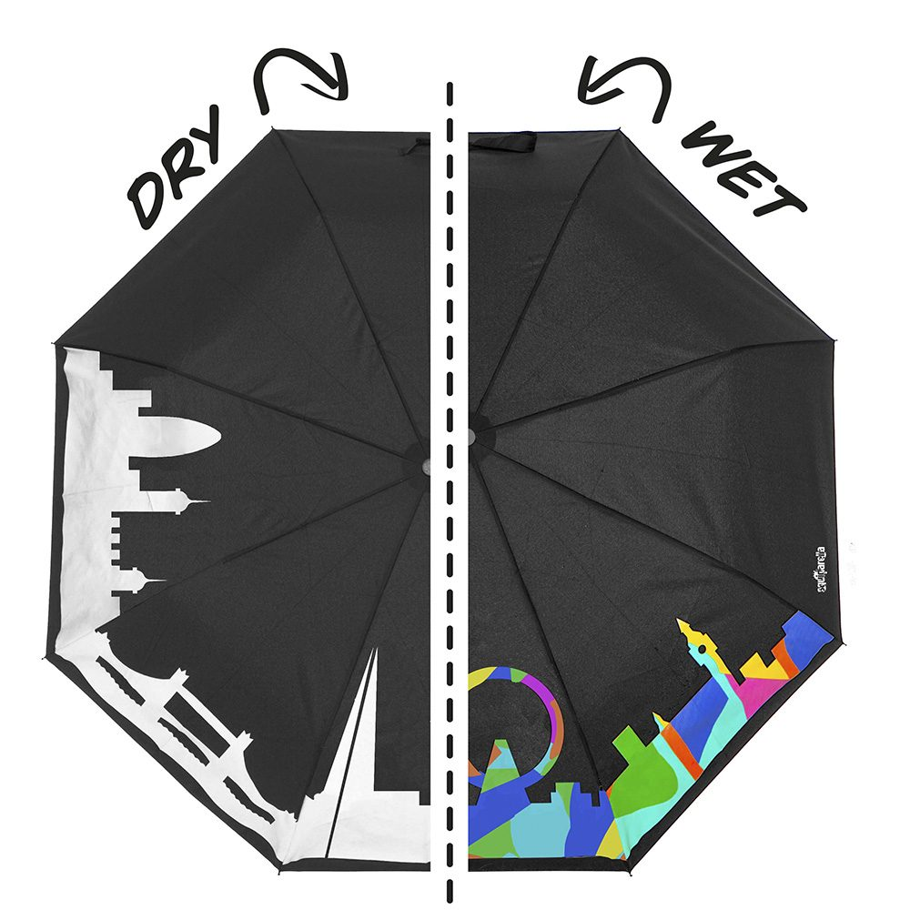 Unique accessories - colour changing London umbrella