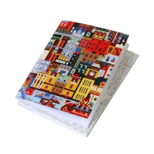 Set of 2 notebooks with block illustrations of London