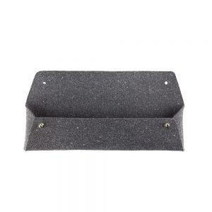 Stationery gifts - recycled leather pencil case in grey