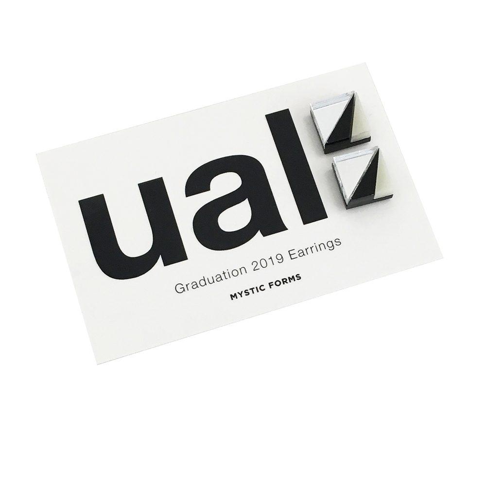 UAL graduation earrings