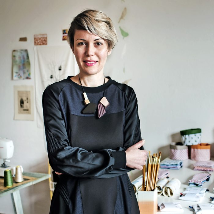 Photo of designer Elena Scarlata