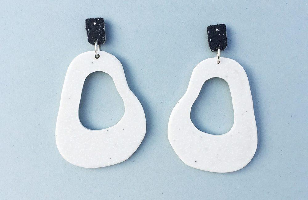 Abstract shape acrylic earrings