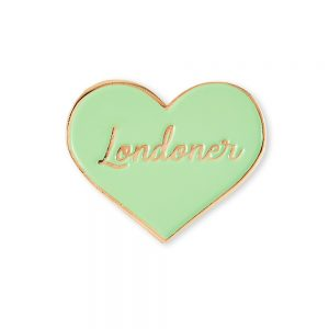 Enamel pin badges - green badge with Londoner slogan