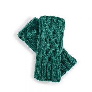 Fairtrade wrist warmers - green