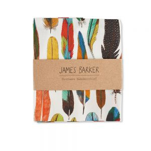 Feathers designer pocket square by James Barker