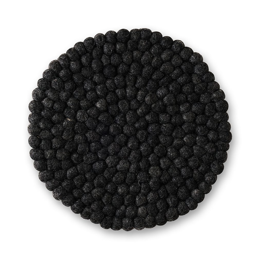 Dark grey felt table mat