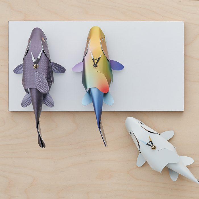 Three fish clocks