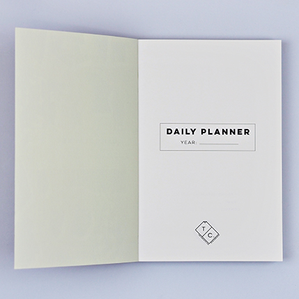 Luxury notebooks - giant raindrops planner, inside cover