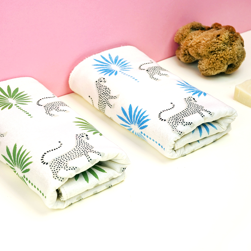 Gift ideas under £20 - Hemp face towel with Gattopardo design