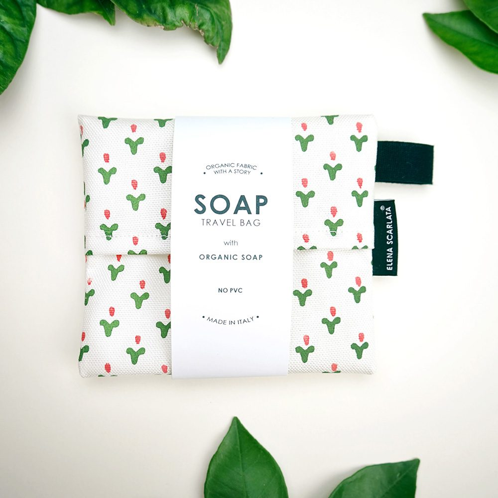 Gift ideas under £20 - Organic travel soap bag with Egypt design