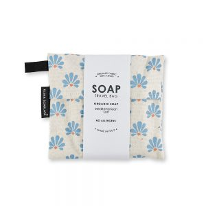 Gift ideas under £20 - Organic travel soap bag with Greece design