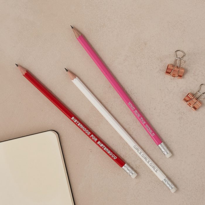 Gifts for women - girl power pencil set