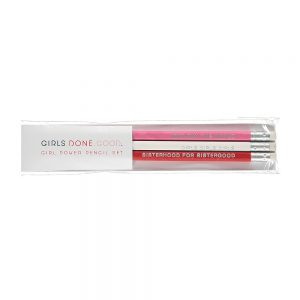 Girl power pencil set