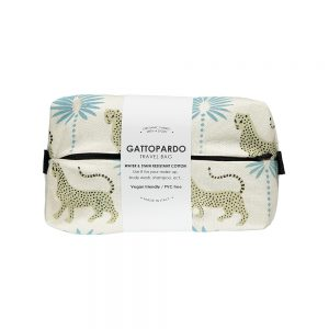 Gifts under £20 - organic travel bag with leopard design