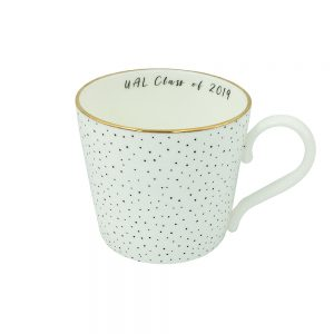 Spotty mug with 'UAL Class of 2019' slogan