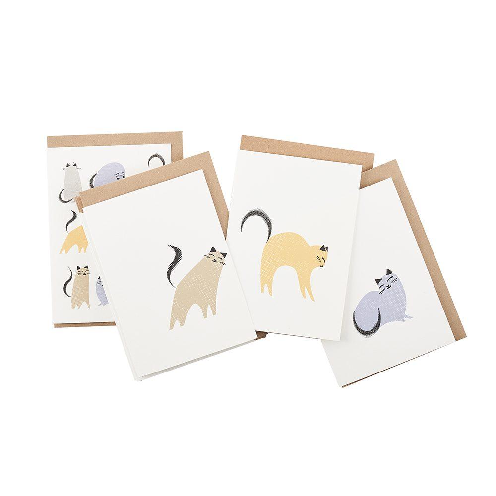 Luxury greetings cards - Kitty corner notecard set