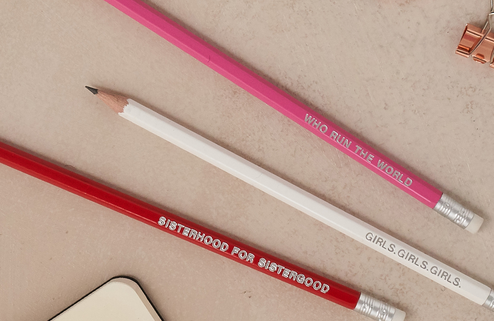 Girl power pencil set