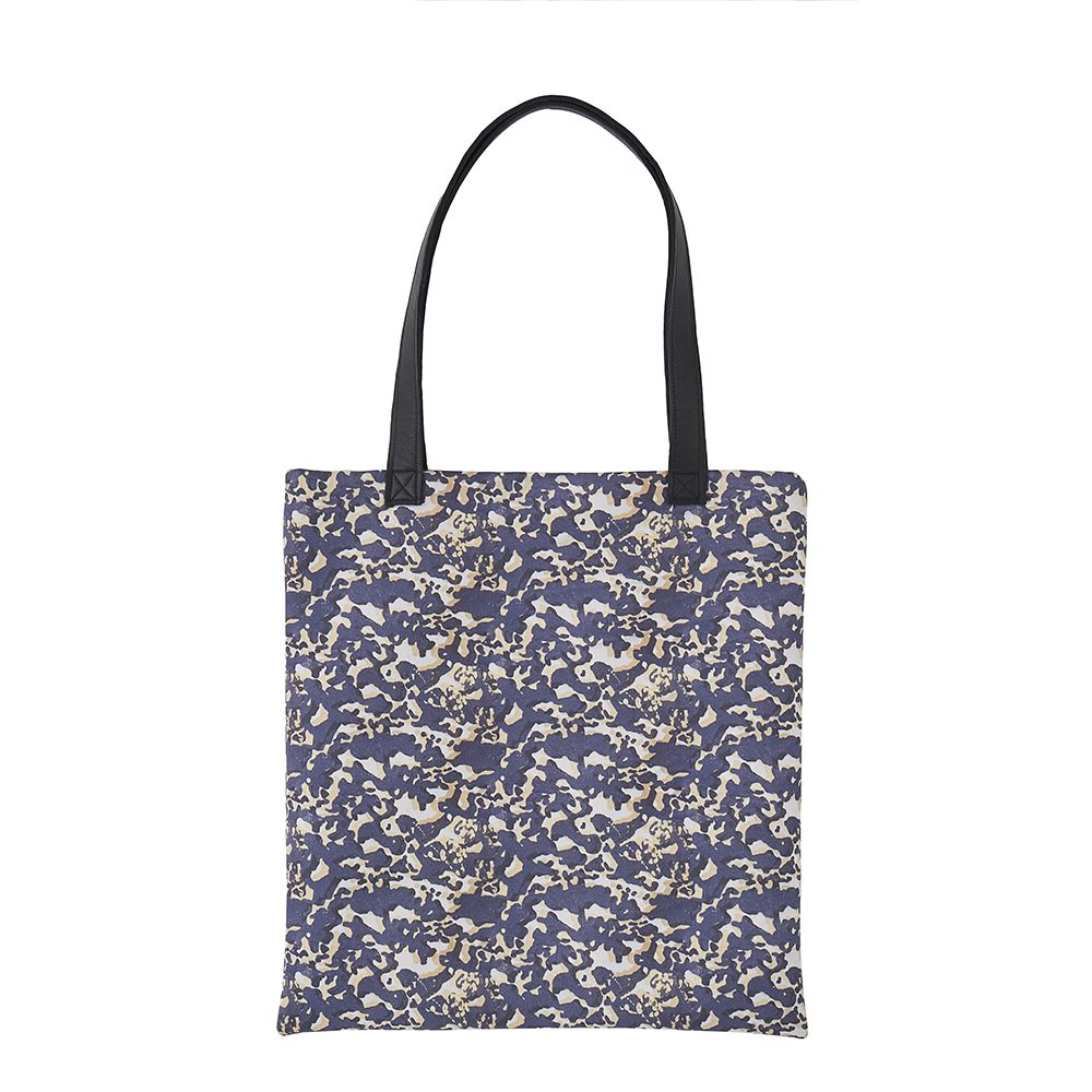 Handmade bags - Risborough tote bag with faux leather handle