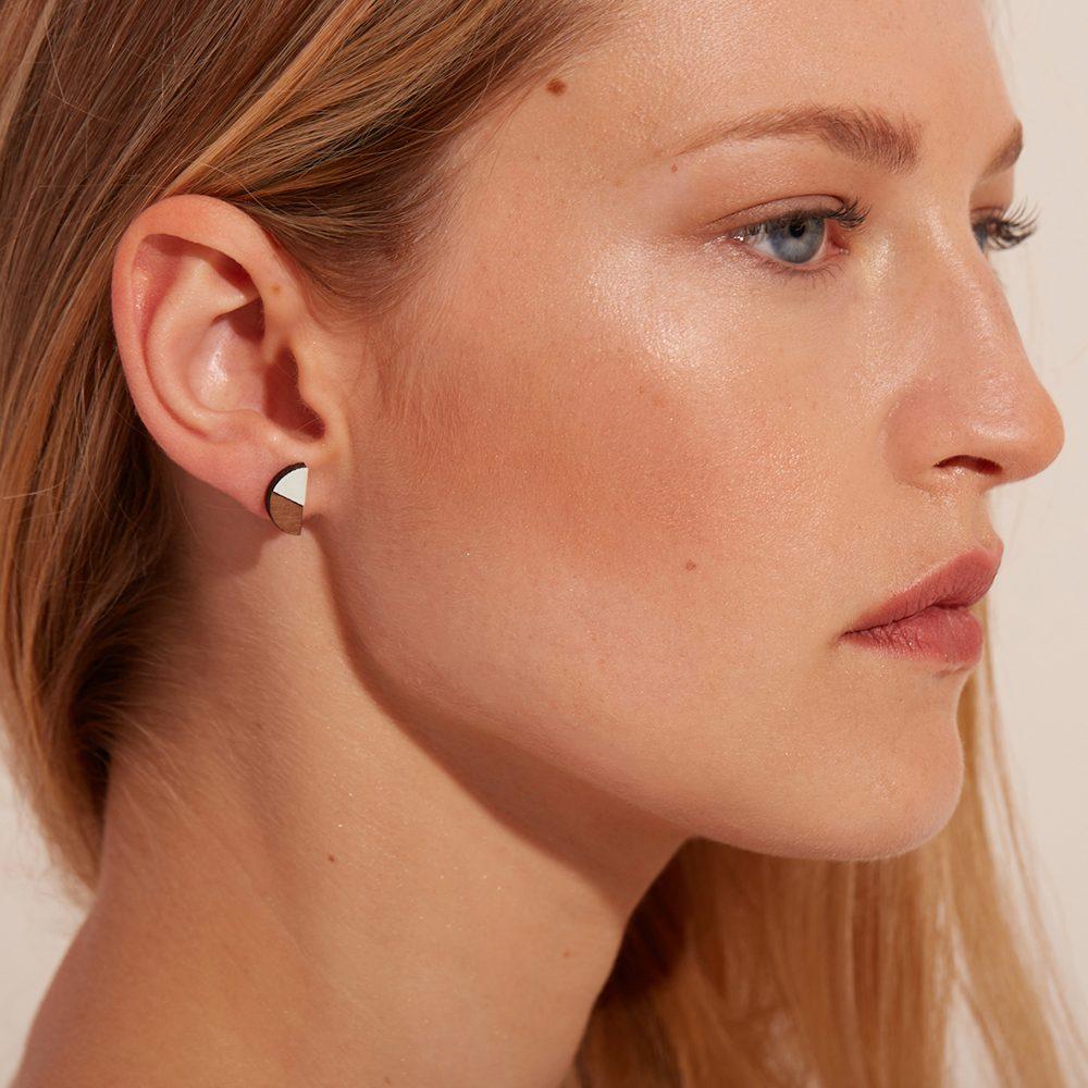 Handmade earrings - pale blue