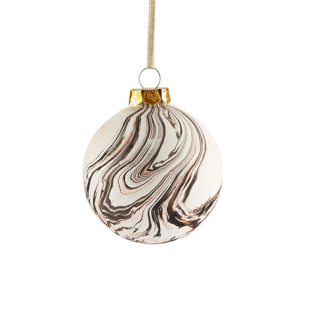 Handmade Christmas decorations - slate marbled bauble