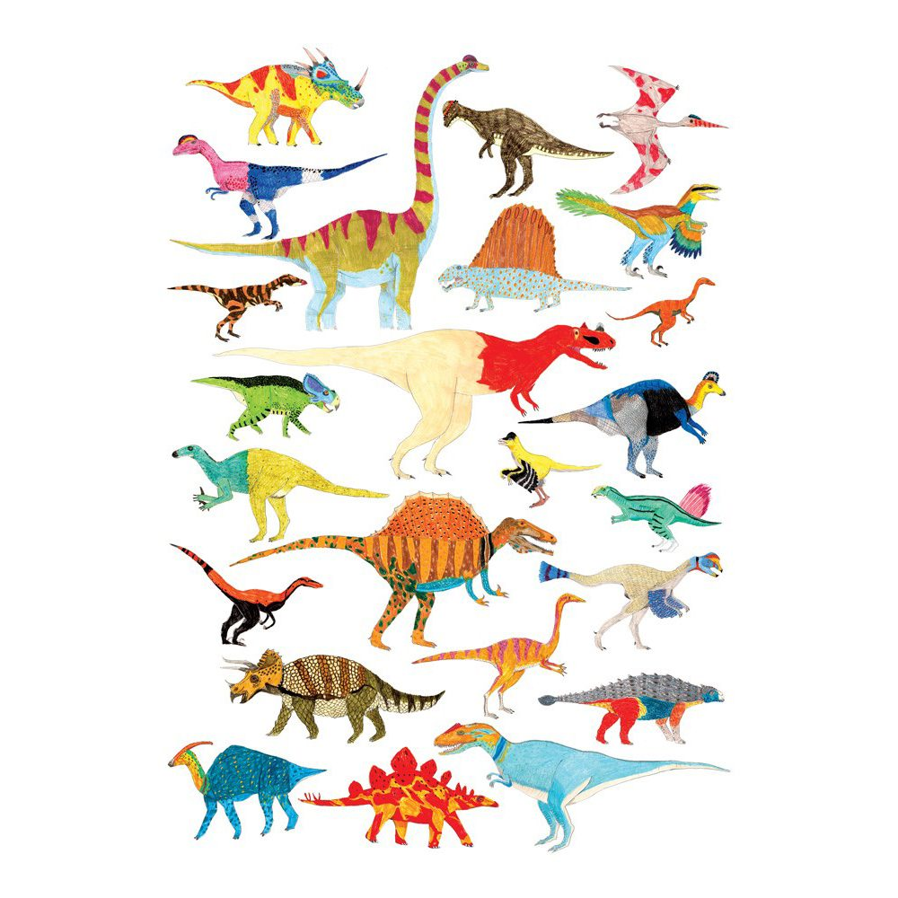 Home wall art - dinosaur A4 illustrated print