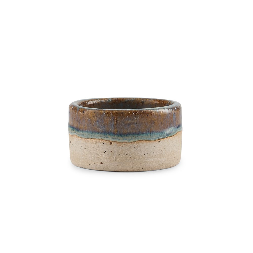 Homeware gifts - handmade stoneware candle holder with sea green glaze