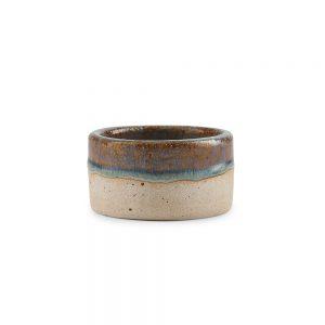 Homeware gifts - handmade stoneware candle holder with sea green glaze