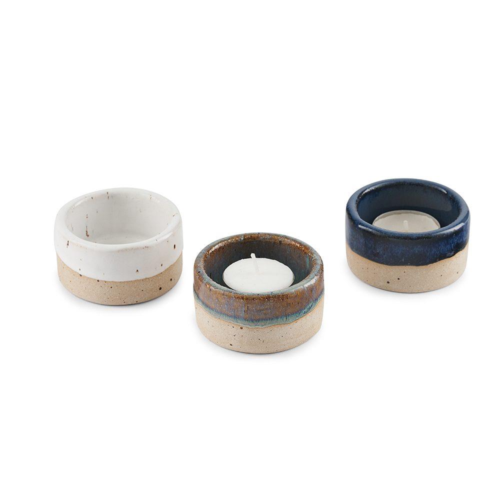 Homeware gifts - handmade stoneware candle holders