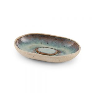 Homeware gifts - handmade soap dish with green glaze