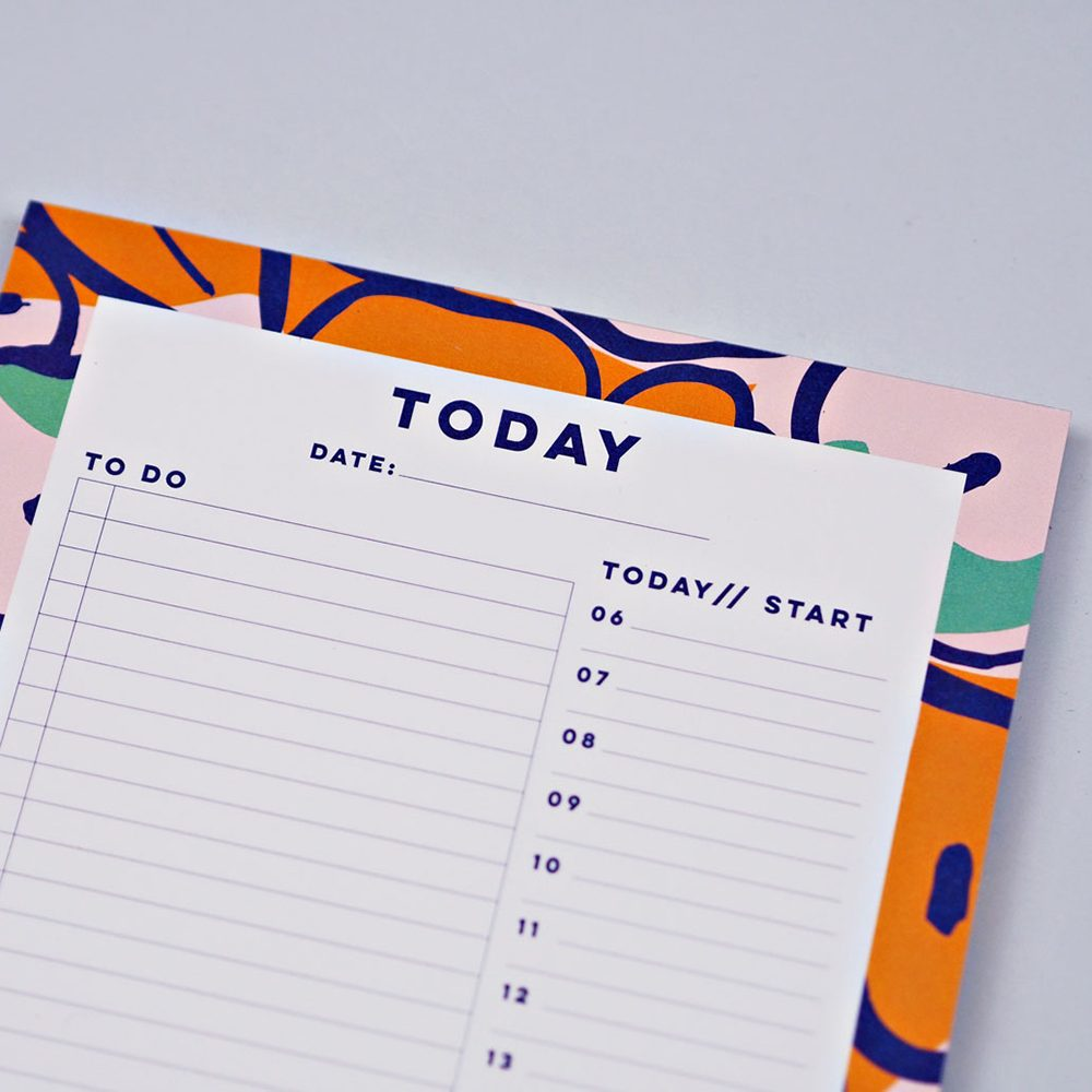 Cool stationery - daily planner pad with abstract floral border