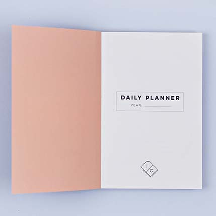 Luxury notebooks - inky no.1 planner, inside cover