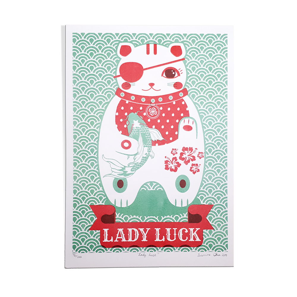 Lady luck cat