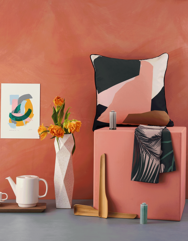 Selection of homeware for sale in not just a shop