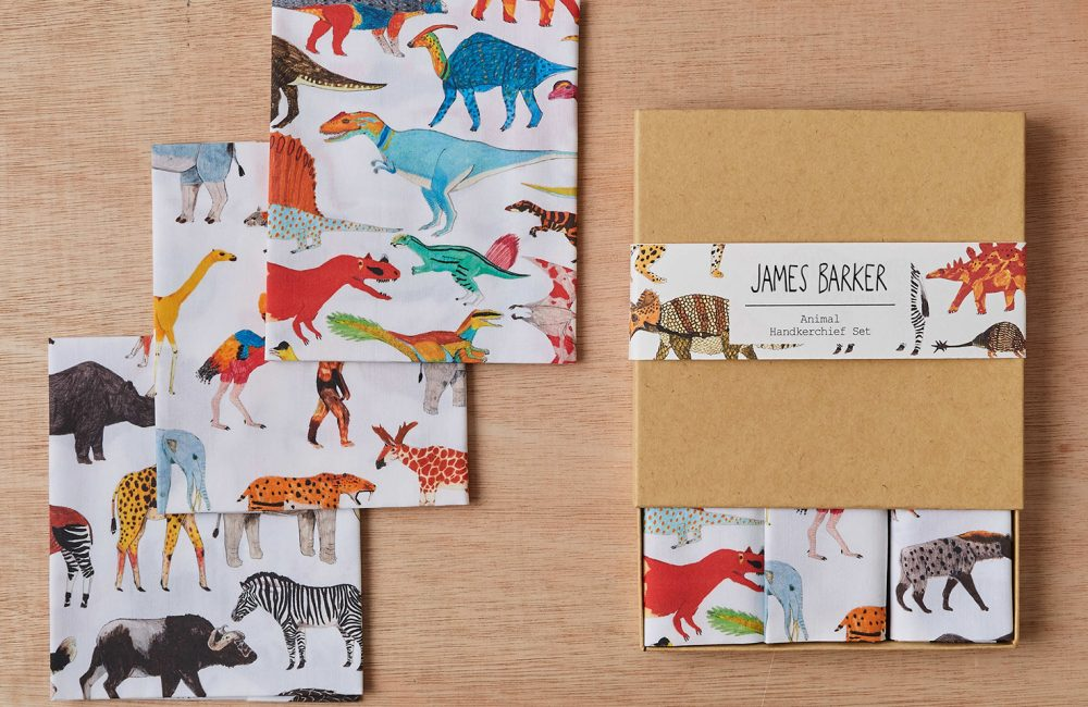 Animal and dinosaur handkerchief set