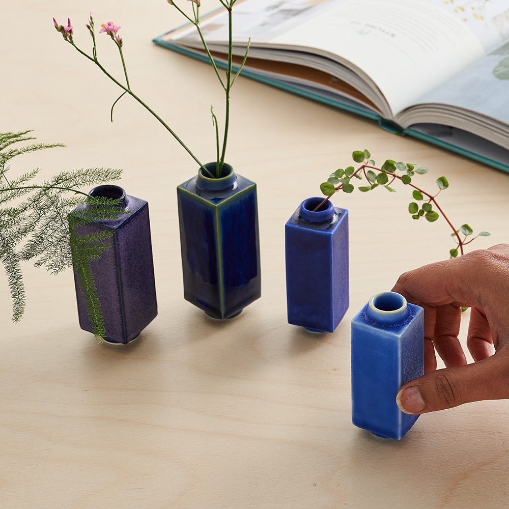 Designer homeware - selection of miniature pots