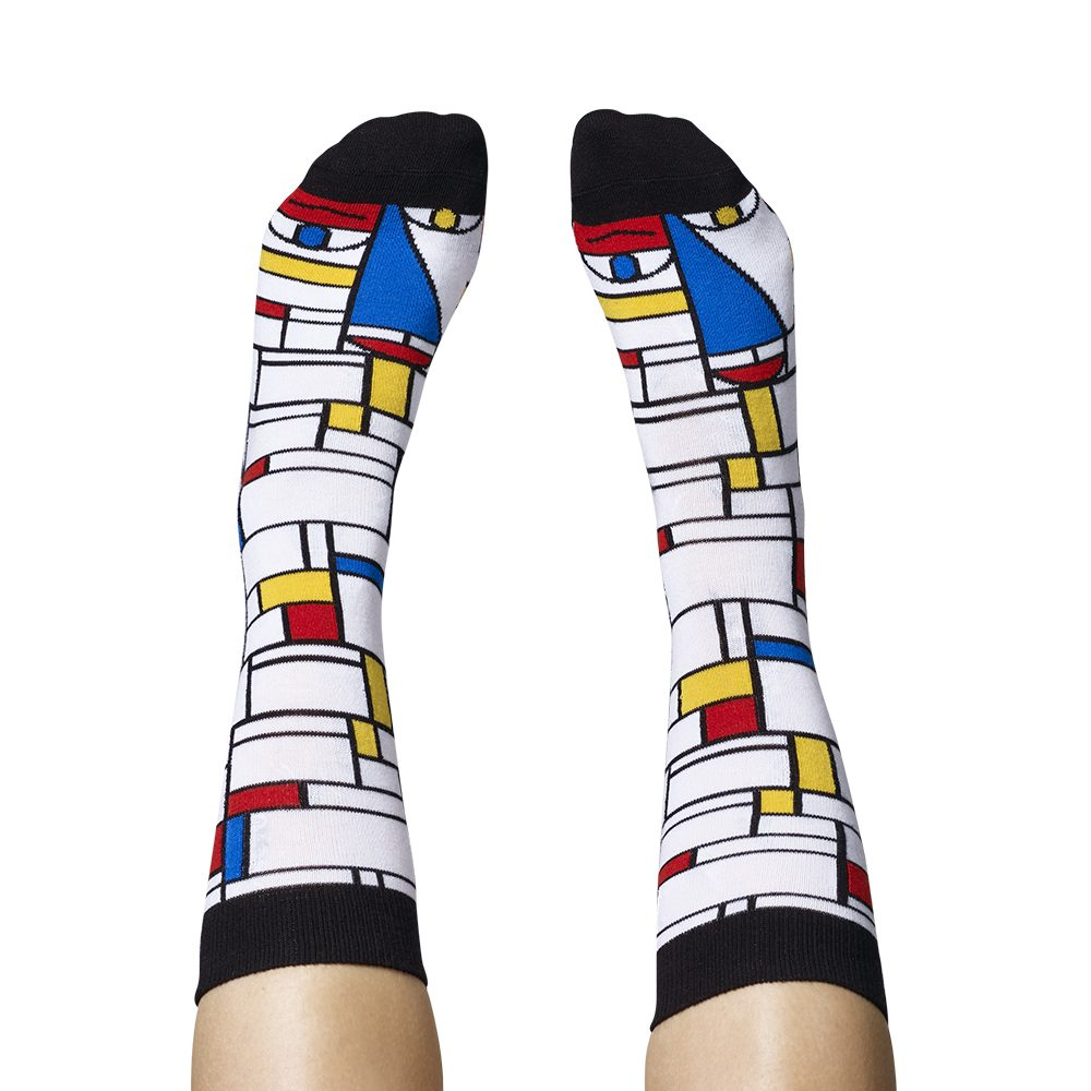 Fashion Socks Modern Artists Piet Mondrian