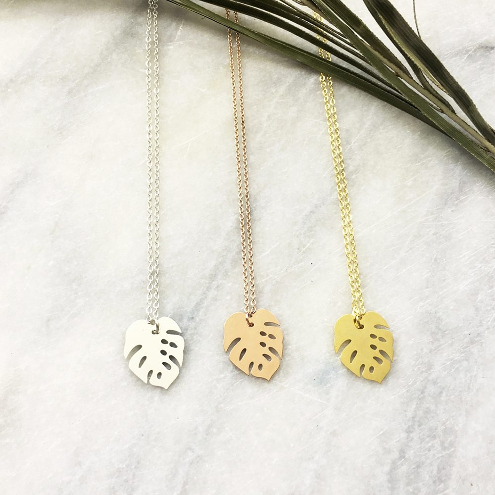 Unique Necklaces Cheese Plant Trio