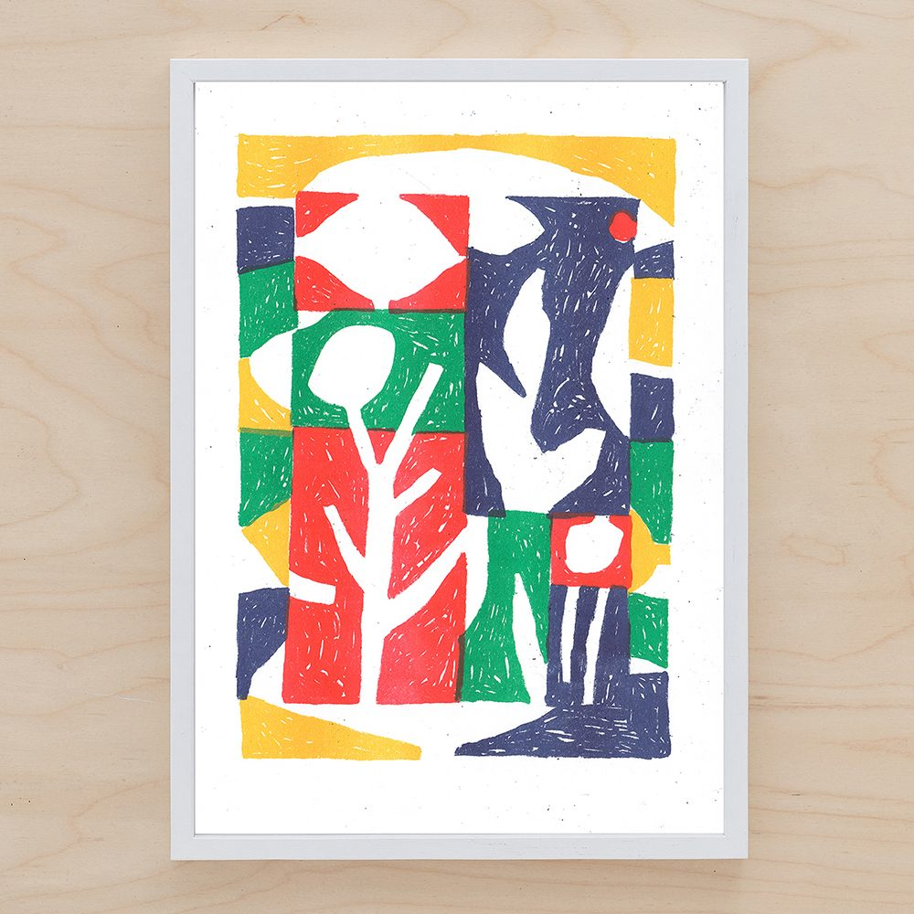 Limited edition prints - Abstract Plants by John Molesworth