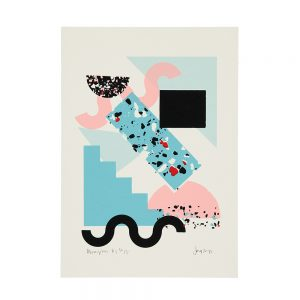 Limited edition art prints - Memphis inspired abstract screenprint