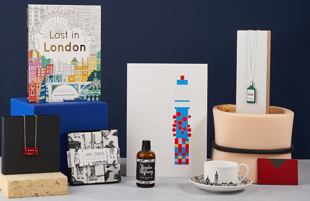 Selection of London inspired products