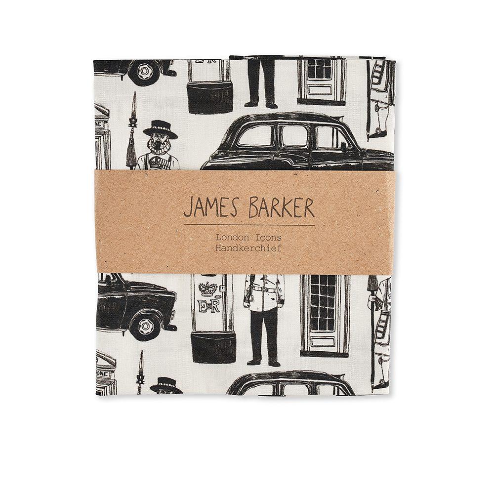 London designer pocket square by James Barker