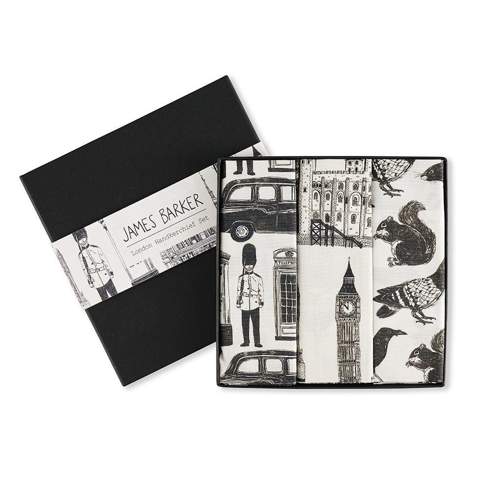 London landmarks designer pocket squares by James Barker