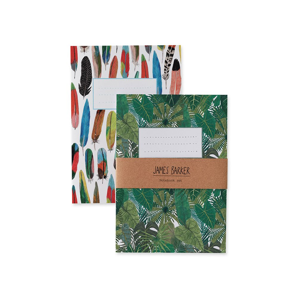 Luxury notebooks with botanical and feather designs